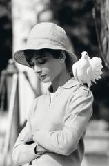 Audrey with dove