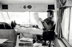 Clint in his Trailer
