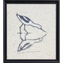Drinking Bird Block Print