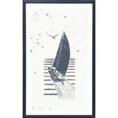Sailboat Block Print