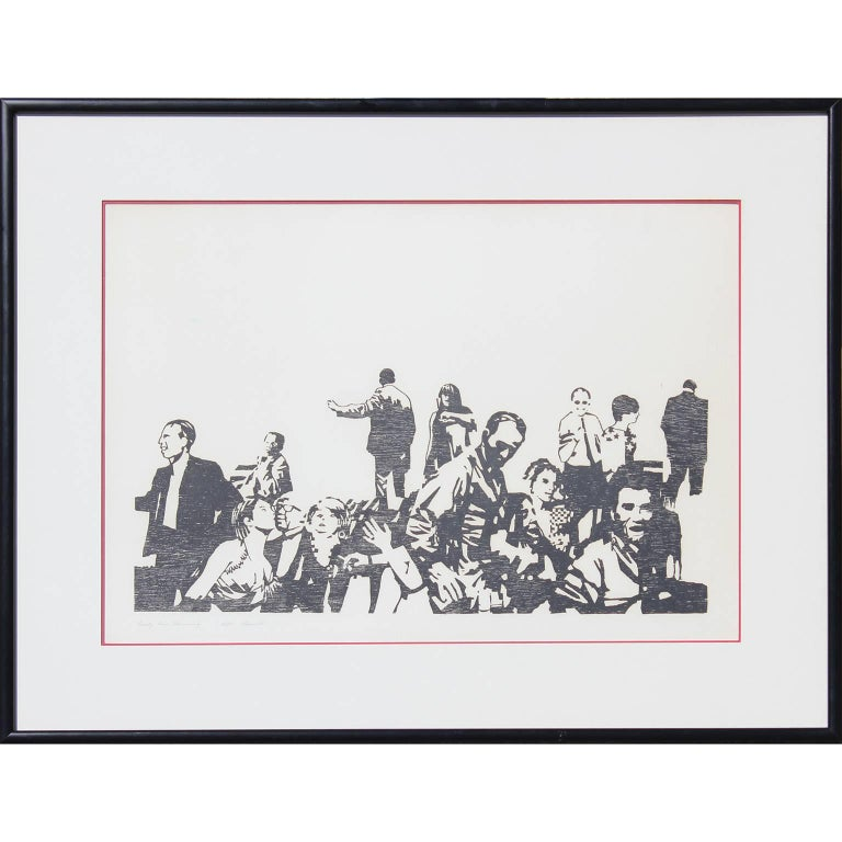 """Vincent Figurative Print - """"Early One Morning"""" Print in the style of Bansky"""