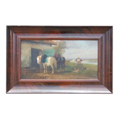 Two Horses with a Landscape