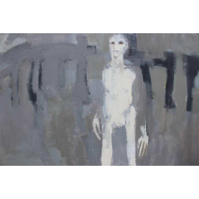 Grey Abstract with Tall Man 4