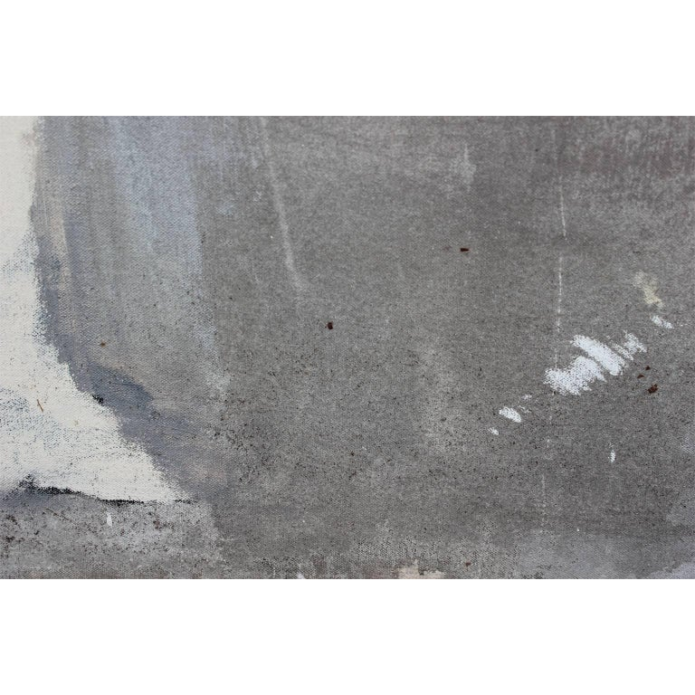 Grey Abstract with Tall Man For Sale 1