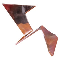 Geometric Abstract Copper Sculpture