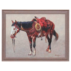 Large Equestrain Horse Painting