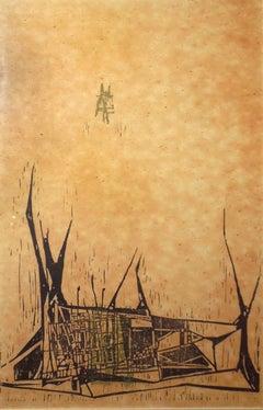 Ant Hill - Woodblock Print