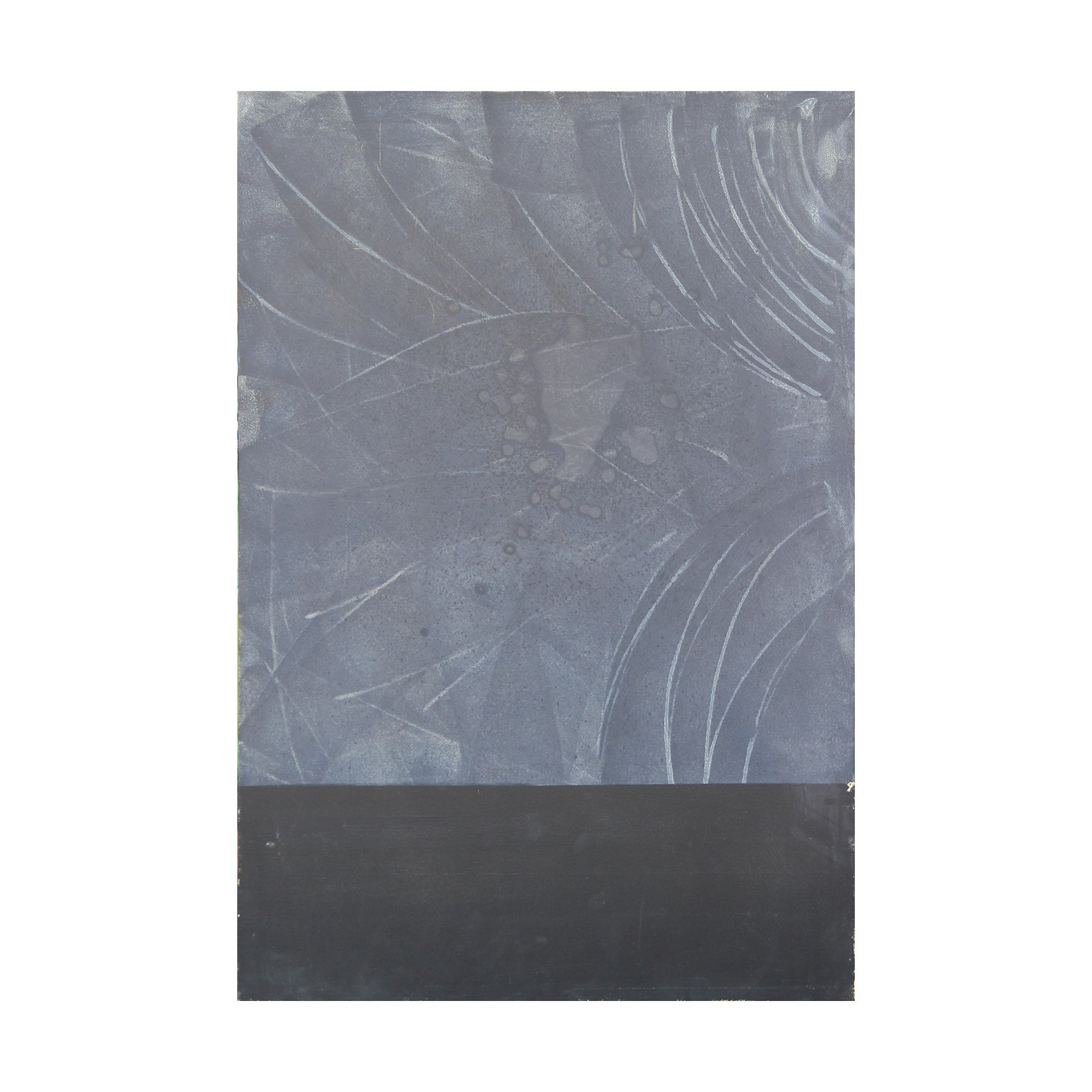 Black and Grey Abstract Color Field Modern Painting, In Style of Mark Rothko