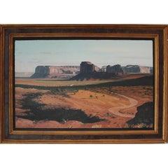 """Monument Valley"" Elephant Butte Landscape Painting"