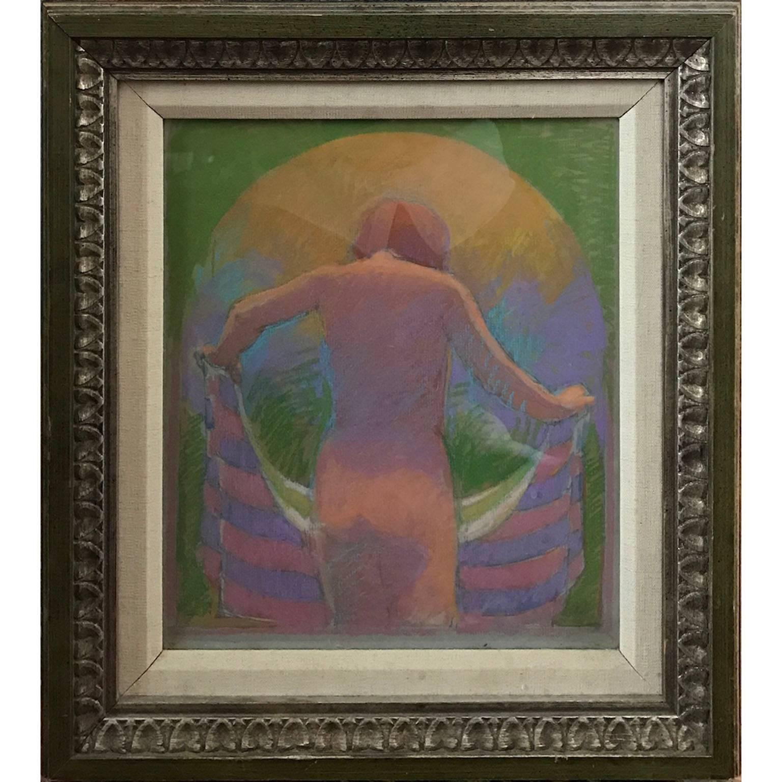 Abstract Modern Pastel Tonal Nude Figurative