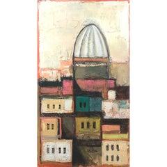 Early David Adickes Abstract Cityscape