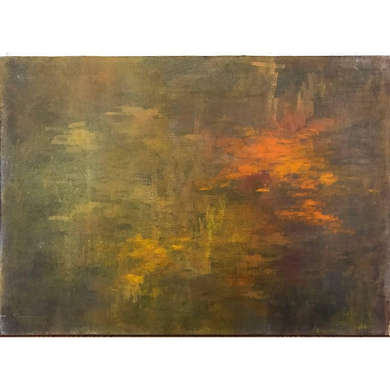 William Anzalone Abstract Painting - Texas Sunrise Abstract Impressionist Painting