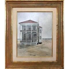 Naturalistic Galveston Beach House Painting