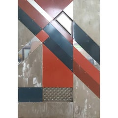 Geometric Abstract Metal Wall Sculpture