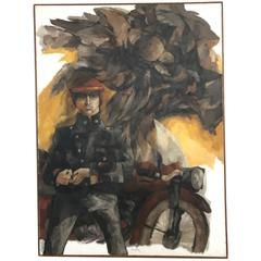 Bob Camblin - Expressionist Motorcycle Painting
