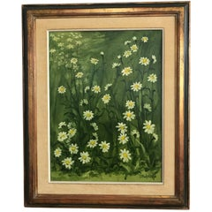 Texas Still Life Flower Painting of Daisies