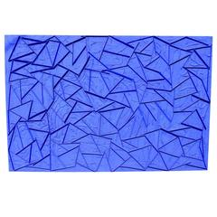 Stunning Yves Klein Blue Large Abstract Painting