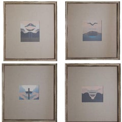 Quadriptych - Mixed Media Abstract, Landscape Collage