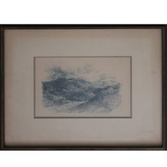 """""""Mexican Landscape"""" Early Landscape Drawing"""