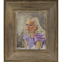 1955 - Donald Vogel Young Girl Portrait
