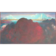 Abstract Red Mountain Landscape