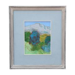 Modern Abstract Mountain Landscape