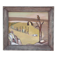 """The Long Road"", Surreal Desert Landscape Painting"