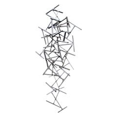 """Welded Metal and Steel Abstract """"H"""" Sculpture"""