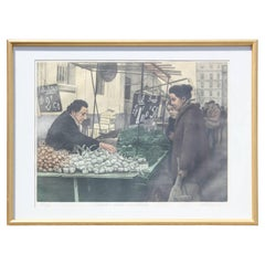 """Shallots, Garlic and Parsley"" Market Scene Edition 125 of 200"
