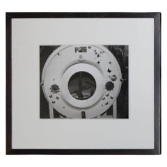 Iron Lung Machine Black and White Photograph