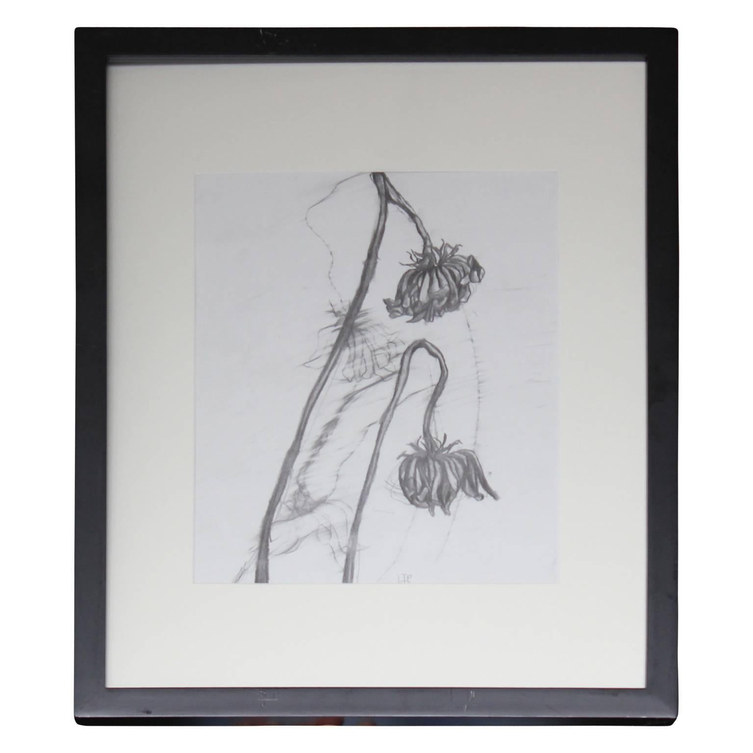 """""""Flowers 1"""" Graphite Drawing"""