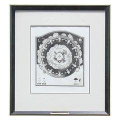 """Condition"" Seasons Wheel Lithograph"