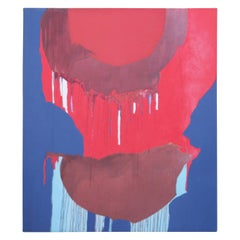 Untitled- Red and Blue Abstract Painting