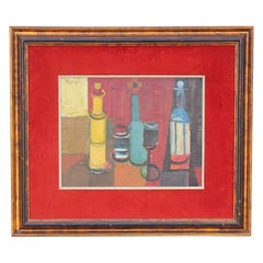 Abstract Still Life with 3 Bottles