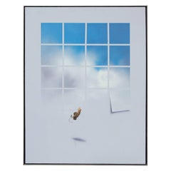 Surreal Window Pane Painting