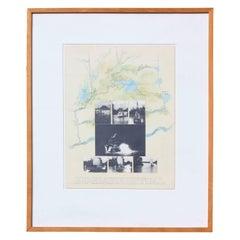 """""""Hog Bayou Ritual"""" Mixed Media Collage 1982"""