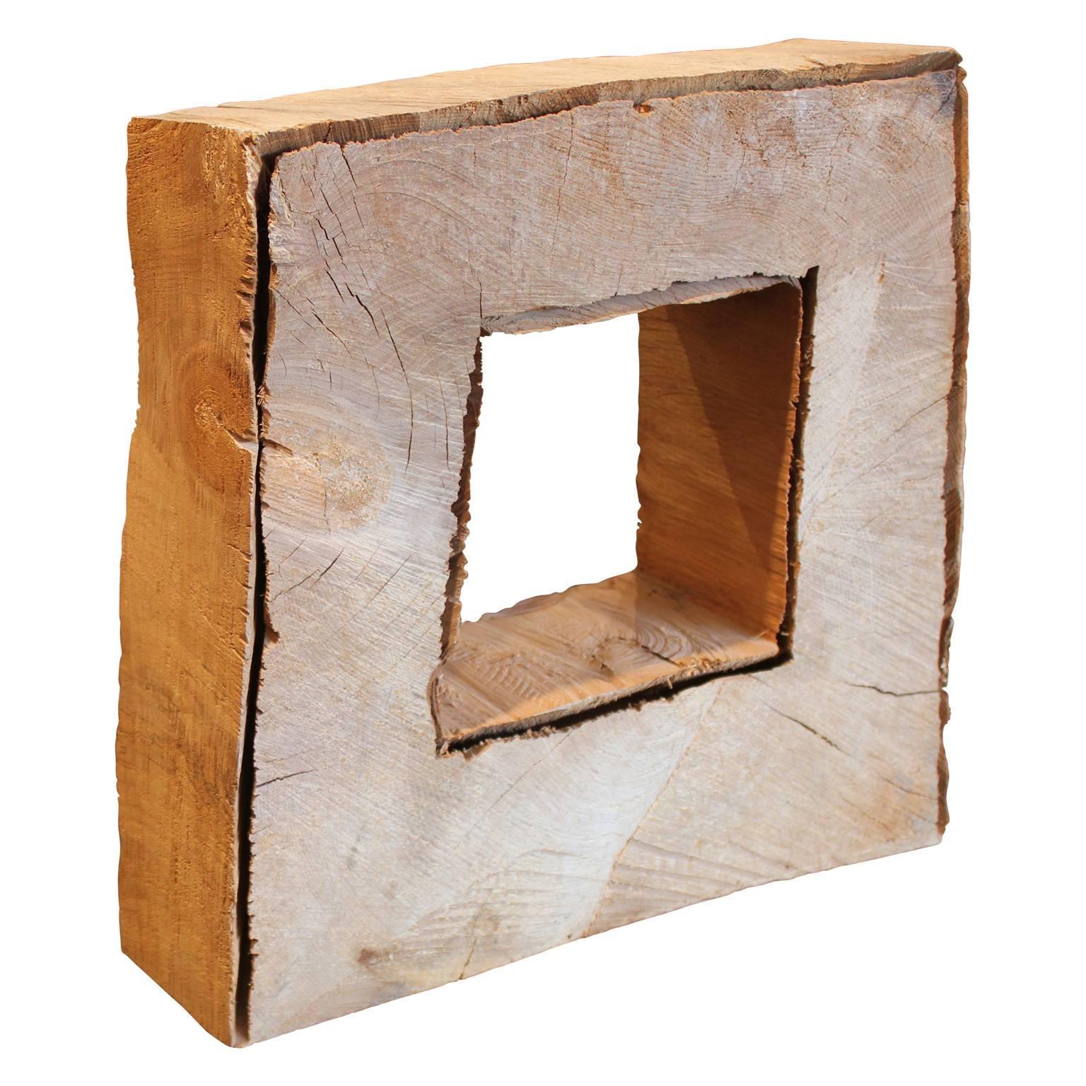 Square Wood Window Scultpure