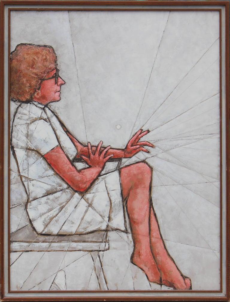 Geometric Figurative of Woman in White