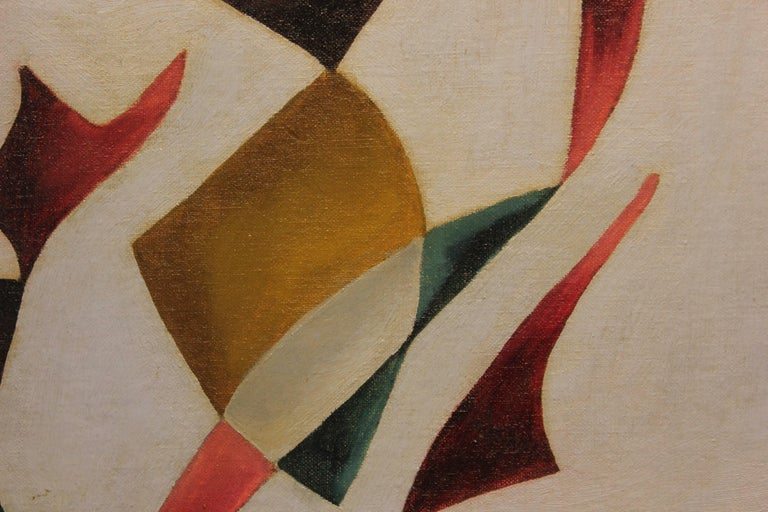 Colorful Mid-Century Modern Geometric Abstract - Painting by Gwyn Piggot