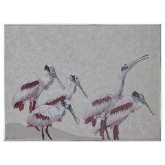Roseata Spoonbill Painting