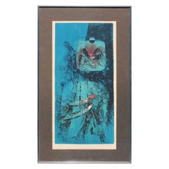 Lovely Abstract Lithograph