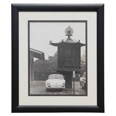 Black and White Japanese Porsche Photograph