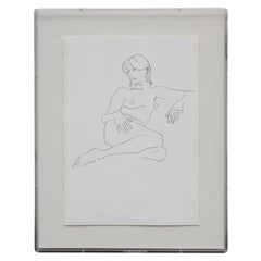Black And White Female Nude Lithograph