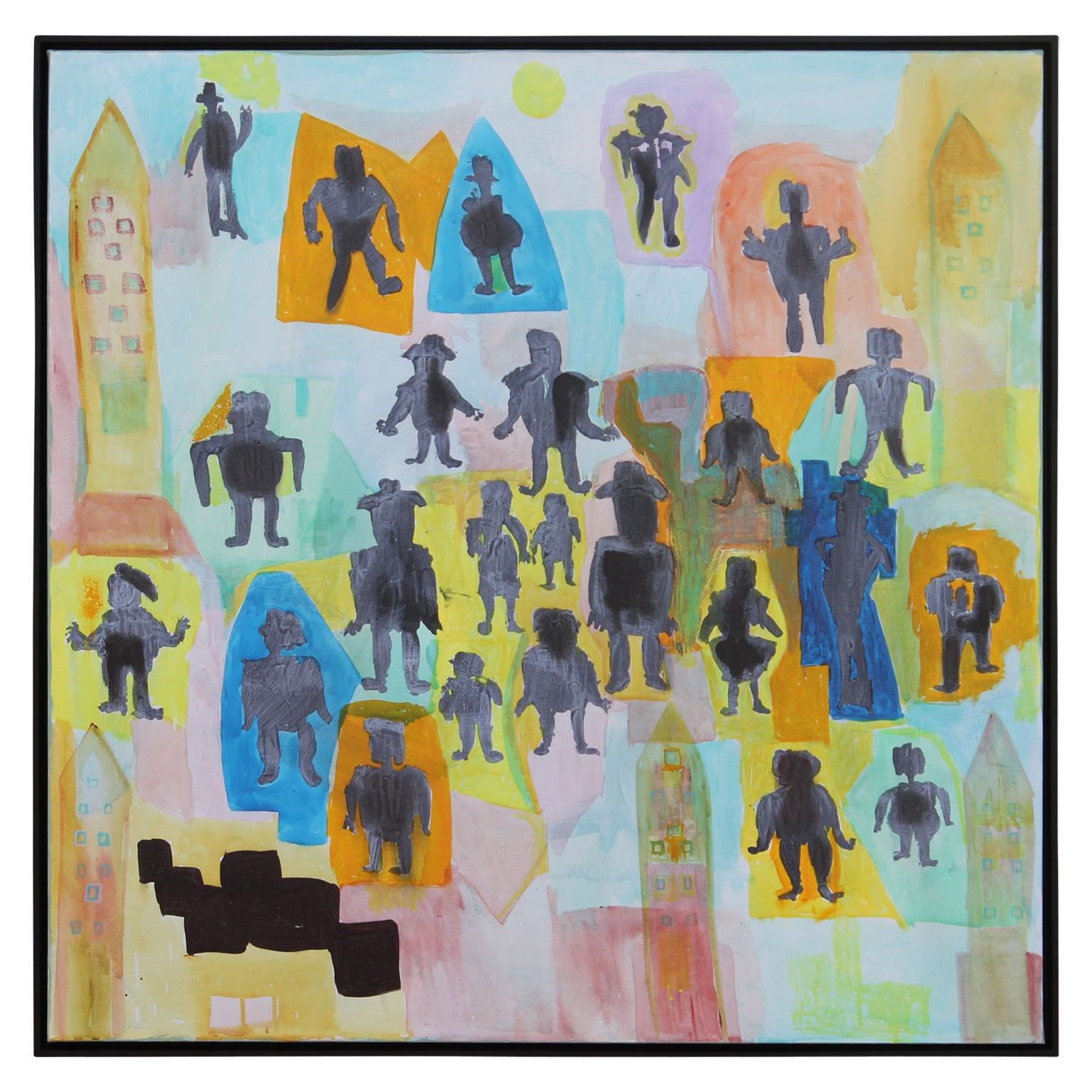"""""""In The Shadows"""" Contemporary Abstract Figurative Painting"""