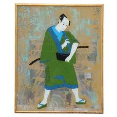 Samurai Warrior Reverse Painted Mirror