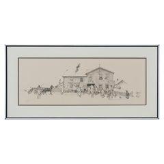 Limited Edition Blacksmith Shop Lithograph Landscape