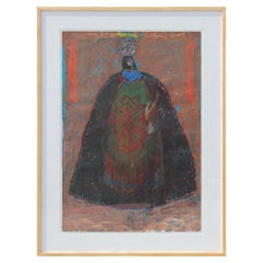Abstract Painting of a Cloaked FIgure