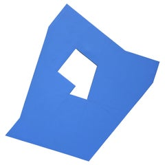 Blue Plot - Blue Geometric Abstract Painting