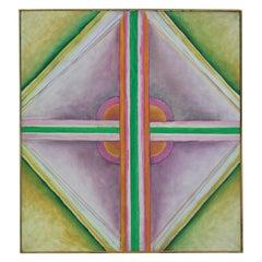 Green, Purple and Orange Geometric Abstract