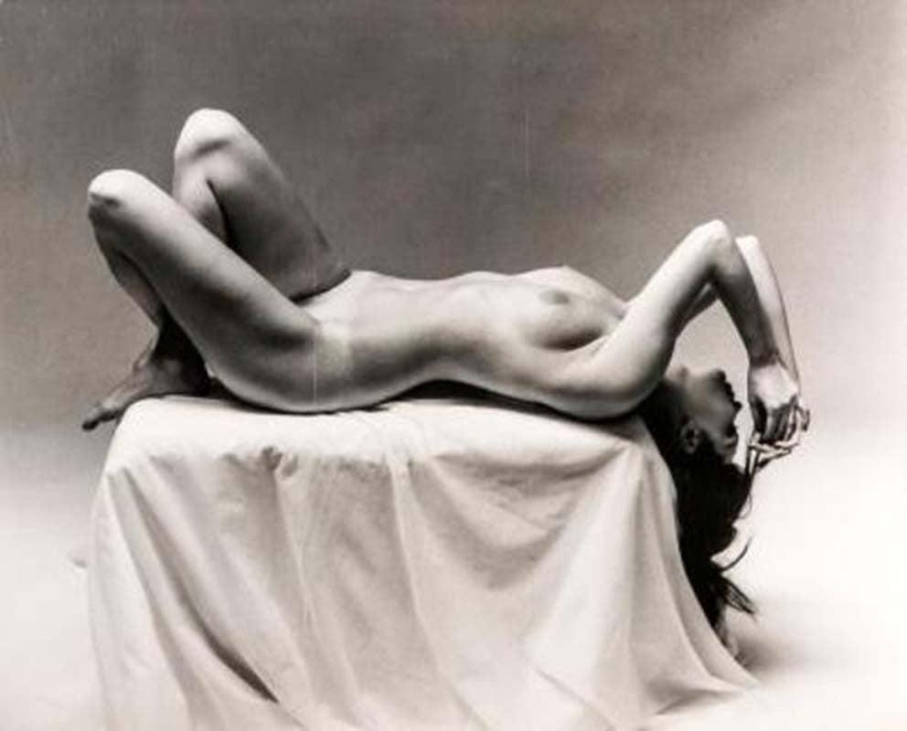 Nude Laying on Pedestal, Andre de Dienes